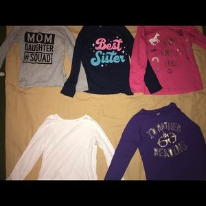 Lot of 5 long sleeve tops for girls
